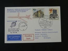 Carte DRG Espace Space Rakete Rocket Mail Raketenpost Bremen-Oslo 1966 Ref 101721 - Briefe U. Dokumente