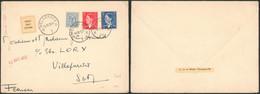 FDC (étiquette) - N°910/11 + N°854 Sur L. Expédiée De Melsbroeck (1952) > France / S.M. Roi Baudouin - 1951-60