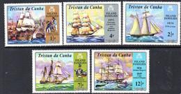 Tristan Da Cunha 1971 Island Families Ships Set Of 5, MNH, SG 153/7 - Tristan Da Cunha