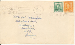 New Zealand Cover Sent To USA 16-11-1949 - Covers & Documents