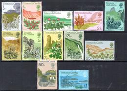 Tristan Da Cunha 1972 Flowering Plants Definitives Set Of 12, MNH, SG 158/69 - Tristan Da Cunha