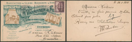 """Antituberculeux - N°310 Sur Carte Imprimée """"Manufacture De Glaces"""" (Oostende 1931) > Bruxelles / Illustrée. - Covers & Documents"""