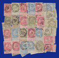 125 Exp. N°58 (50)/ 59 (25)/ 60 (50) - Lot Intéressant Pour: Nuances; Variétés; Reconstitution De Planche... - 1893-1900 Fine Barbe