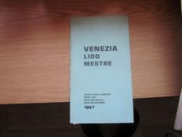 Venezia Lido Mestre Hotel List 1967 - Dépliants Turistici