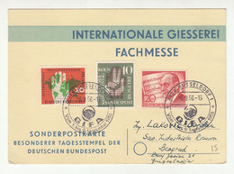 Internationale Giesserei Fachmesse Card Posted 1956 Dusseldorf Pmk B211015 - Briefe U. Dokumente