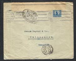 SUEDE 1918: LSC De Stockholm Pour La France  Avec Le Y&T 67, Censure Française - Briefe U. Dokumente