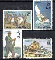 Tristan Da Cunha 1972 Longboats Set Of 4, MNH, SG 170/3 - Tristan Da Cunha