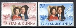 Tristan Da Cunha 1972 Royal Silver Wedding Set Of 2, MNH, SG 174/5 - Tristan Da Cunha