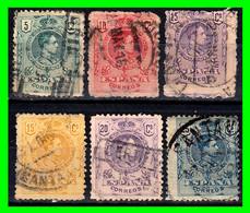 ESPAÑA.- (REINADO DE ALFONSO XIII) -&- SELLOS AÑO 1909-1922  ALFONSO XIII TIPO MEDALLÓN - Used Stamps