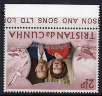 Tristan Da Cunha 1972 Royal Silver Wedding 2½p Value, Watermark Inverted, MNH, SG 174w - Tristan Da Cunha