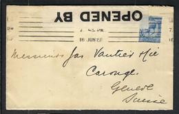 GRANDE BRETAGNE 1915: LSC De Londres Pour Genève  Avec Le Y&T 143 Censure Britannique - Covers & Documents