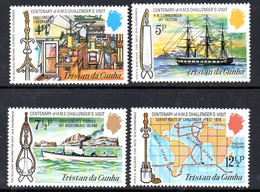 Tristan Da Cunha 1973 HMS Challenger's Visit Set Of 4, MNH, SG 177/80 - Tristan Da Cunha