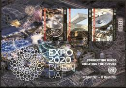 ONU 2021 - Dubaï - Expo 2020 (oblitéré 1er Jour CTO) - Gemeinschaftsausgaben New York/Genf/Wien