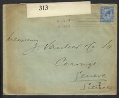 GRANDE BRETAGNE 1916: LSC De Londres Pour Genève Avec Le Y&T 143, Censure Britannique - Covers & Documents