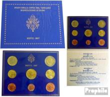 Vatikanstadt 2007 Stgl./unzirkuliert Amtlicher Kursmünzensatz Stgl./unzirkuliert 2007 Euro-Nachauflage Papst Benedikt X - Vatikan