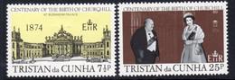 Tristan Da Cunha 1974 Churchill Birth Centenary Set Of 2, MNH, SG 193/4 - Tristan Da Cunha