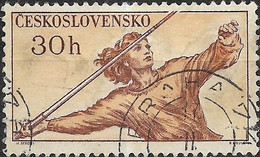 CZECHOSLOVAKIA 1959 Sports Events Of 1959 - 30h. Throwing The Javelin FU - Used Stamps