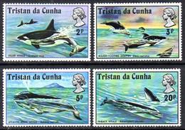Tristan Da Cunha 1975 Whales Set Of 4, MNH, SG 200/3 - Tristan Da Cunha