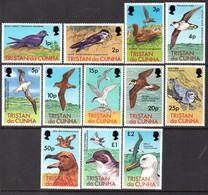 Tristan Da Cunha 1977 Birds Definitives Set Of 12, MNH, SG 220/31 - Tristan Da Cunha