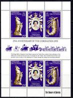 Tristan Da Cunha 1978 25th Anniversary Of Coronation Sheetlet Of 6, MNH, SG 239/41 - Tristan Da Cunha