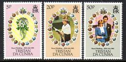 Tristan Da Cunha 1981 Royal Wedding Set Of 3, MNH, SG 308/10 - Tristan Da Cunha