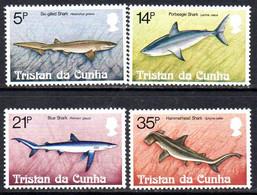 Tristan Da Cunha QEII 1982 Sharks Set Of 4, MNH, SG 319/22 - Tristan Da Cunha