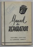 FORD Manuel De Réparation Voitures 1949-1950 & Camions érie -F - Cars