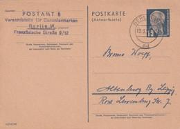 DDR 1954    ENTIER POSTAL/GANZSACHE/POSTAL STATIONERY CARTE DE BERLIN - Postkarten - Gebraucht