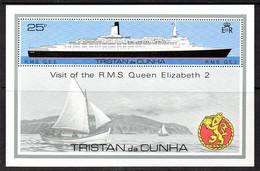 Tristan Da Cunha QEII 1979 Visit If RMS Queen Elizabeth II MS, MNH, SG 263 - Tristan Da Cunha