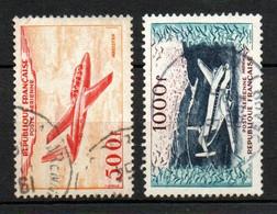 Col24 France Poste Aérienne N° 32 & 33 Oblitéré  Cote 36,00 Euro - 1927-1959 Afgestempeld