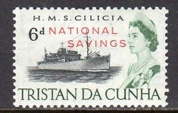 Tristan Da Cunha QEII 1970 6d National Savings Overprint On Ship Definitive, MNH, SG F1 - Tristan Da Cunha