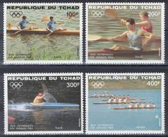 Tchad - YT PA 285-288 ** MNH - 1984 - Jeux Olympiques De Los Angeles - Kayak - Aviron - Tsjaad (1960-...)