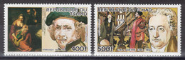Tchad - YT PA 275-276 ** MNH - 1984 - Rembrandt - Goethe - Tsjaad (1960-...)