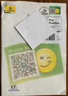 Espana - Cover With Mi 3967 Emoticon SF Value / VF Certificado Paq Premium Yv 4579 / Ed 4875 - 2011-... Lettere