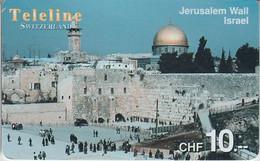 SWITZERLAND - PHONE CARD - PRÉPAYÉE TELELINE ***  JERUSALEM / ISRAEL *** - Landscapes
