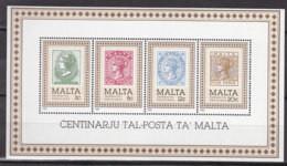 MALTA, Block 8, Postfrisch **,  100 Jahre Post Von Malta 1985 - Malta