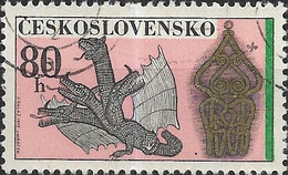 CZECHOSLOVAKIA 1972 Slovak Wireworking - 80h - Dragon And Gilded Ornament FU - Used Stamps