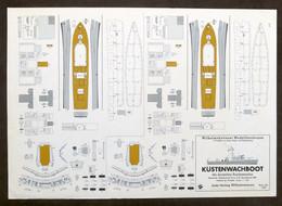 Costruzioni Carta Da Ritagliare - Modellismo Navale - Kustenwachboot - Anni '70 - Non Classificati