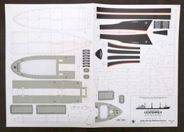 Costruzioni Carta Da Ritagliare - Modellismo Navale - Lichtenfels - Anni '70 - Non Classificati