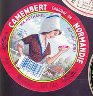 ÉTIQUETTE DE FROMAGE  - CAMEMBERT - MA  NORMANDE  - FABRIQUÉ EN NORMANDIE - Cheese