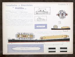 Costruzioni Carta - Modellismo Navale - Transatlantico E Rimorchiatore - Melitta - Non Classificati
