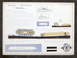 Costruzioni Carta - Modellismo Navale - Motonave E Rimorchiatore - Melitta - Non Classificati