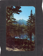 """104941     Stati  Uniti,     Long""""s Peak  From  Nymph  Lake In  Rocky  Mountain  National  Park,  Colorado,  VG  1960 - Rocky Mountains"""