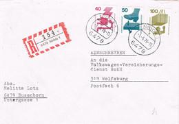 42104. Carta Certificada NIDDA (Alemania Federal) 1976. Remitida De BUSENBORN - Brieven En Documenten