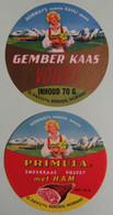 Etiquettes Fromage Fondu - PRIMULA - 2 Portions Gember Kaas.Smeerkaas Ham O.Kavli Bergen - Norvége  A Voir ! - Cheese