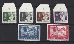 Belgie - Belgique 955/960 - Reeks Met Plaatnummers - ....-1960