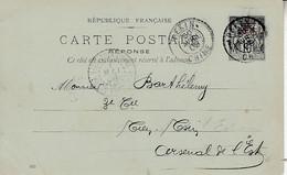 < Pékin Chine .. Entier Stationery Ganzsachen Carte  Postale Sage Surchargée Chine .. CP 5 Date 020 .. Pour Tien Tsin - Briefe U. Dokumente