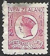 NZ  1875  Sc#P3  Newspaper Stamp Wmk 62   MH  2016 Scott Value $11 - Unused Stamps