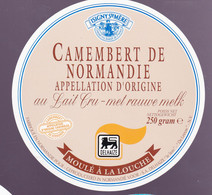 ÉTIQUETTE DE FROMAGE  -CAMEMBERT  DE NORMANDIE - FABRIQUÉ EN NORMANDIE - Cheese