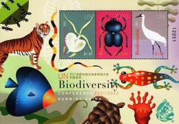 United Nations - New York/Geneva/Vienna - 2021 - Biodiversity - Kunming Conference - Mint Souvenir Sheet - Gemeinschaftsausgaben New York/Genf/Wien